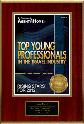 "Jerome Hiquet Selected For ""Top Young Professionals In The Travel Industry"".  (PRNewsFoto/American Registry)"