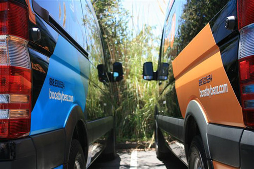 Boost by Mercedes Benz - new youth transportation in Palo Alto, CA.  (PRNewsFoto/Daimler Communications)