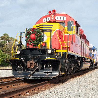 Florida East Coast Railway's 2013 Christmas Train on route to deliver toys.  (PRNewsFoto/Florida East Coast Railway)