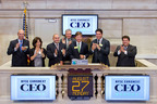 ORC International (far right), research partner to NYSE Euronext on Annual CEO Report Launch, ring Closing Bell.  (PRNewsFoto/ORC International)