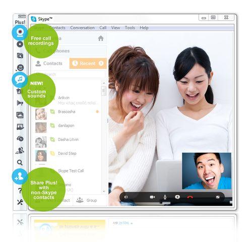 Messenger Plus! (for Skype) 1.8 with WLM integration (PRNewsFoto/Yuna Software)