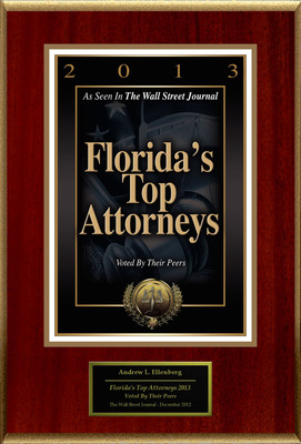 "Andrew L. Ellenberg Selected For ""Florida's Top Attorneys 2013"".  (PRNewsFoto/American Registry)"