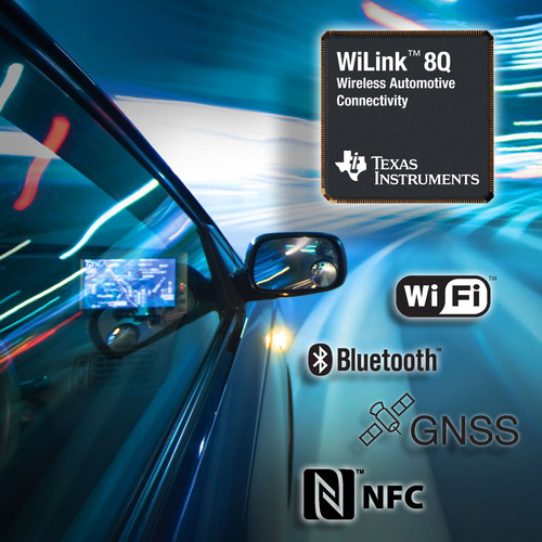 Beyond hands-free: TI brings high-performance wireless connectivity to automotive infotainment with new WiLink(TM) 8Q family.  (PRNewsFoto/Texas Instruments)