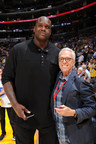 Former NBA Player Shaquille O'Neal with PodcastOne Chairman and CEO Norm Pattiz