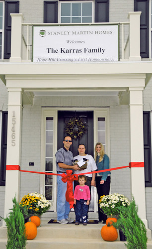 Stanley Martin Homes Celebrates First Homeowners at Hope Hill Crossing
