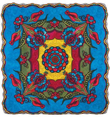 Sedona Rose - image.  (PRNewsFoto/National Quilt Museum)