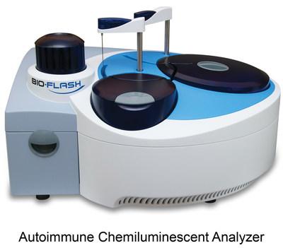 Rapid response autoimmune chemiluminescent analyzer
