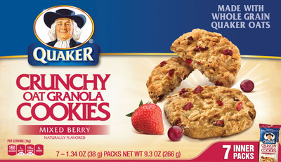 Quaker Crunchy Oat Granola Cookies Mixed Berry.  (PRNewsFoto/The Quaker Oats Company)