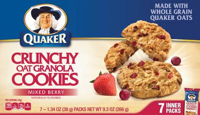Quaker Crunchy Oat Granola Cookies Mixed Berry.  (PRNewsFoto/The Quaker Oats Company)