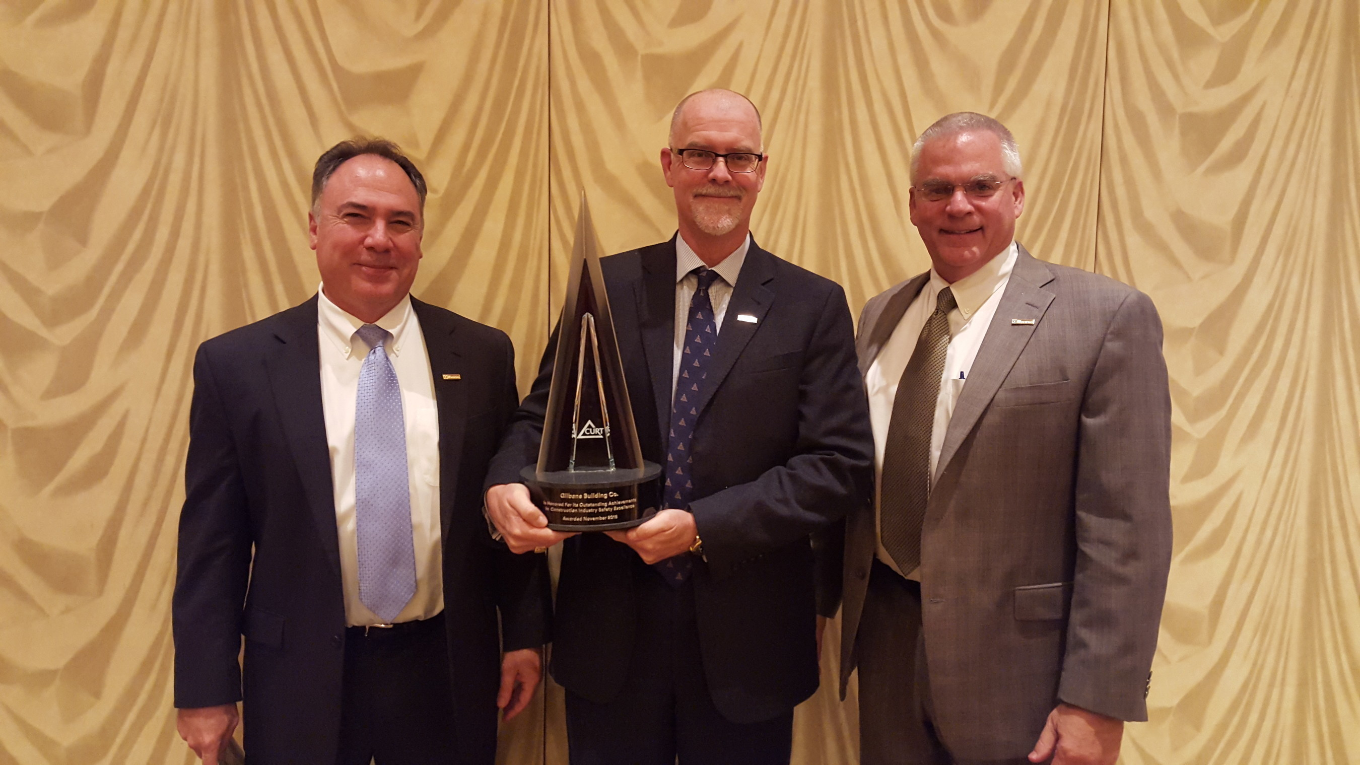 Gilbane Building Company Wins Prestigious Construction Industry Safety Excellence Award (CISE) from CURT