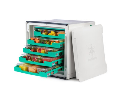 All meals are delivered in FreshRealm's climate-controlled Vessel