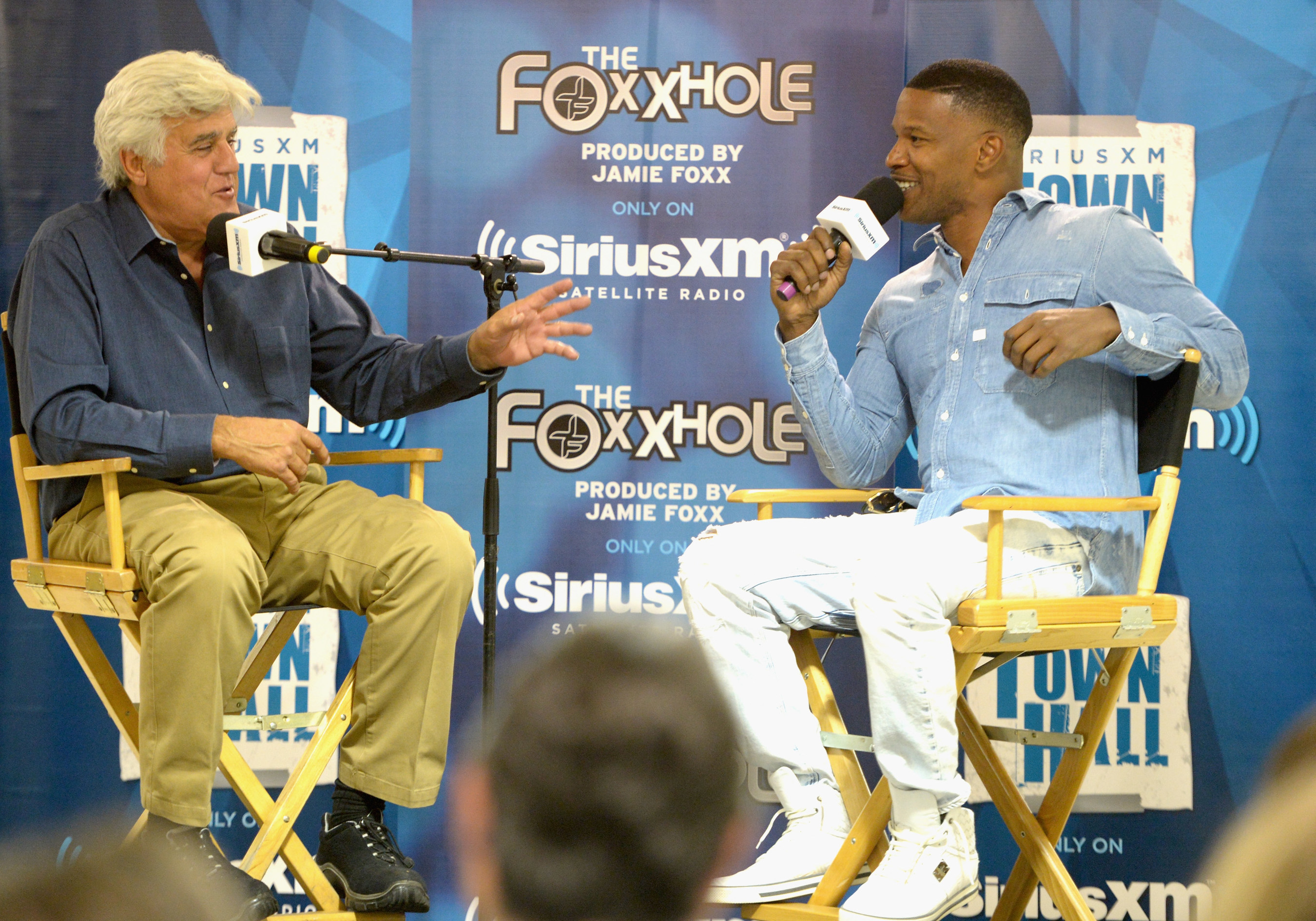 Jay Leno Goes One-on-One with Jamie Foxx for In-Depth Q&A Session as Part of SiriusXM's Town Hall Series