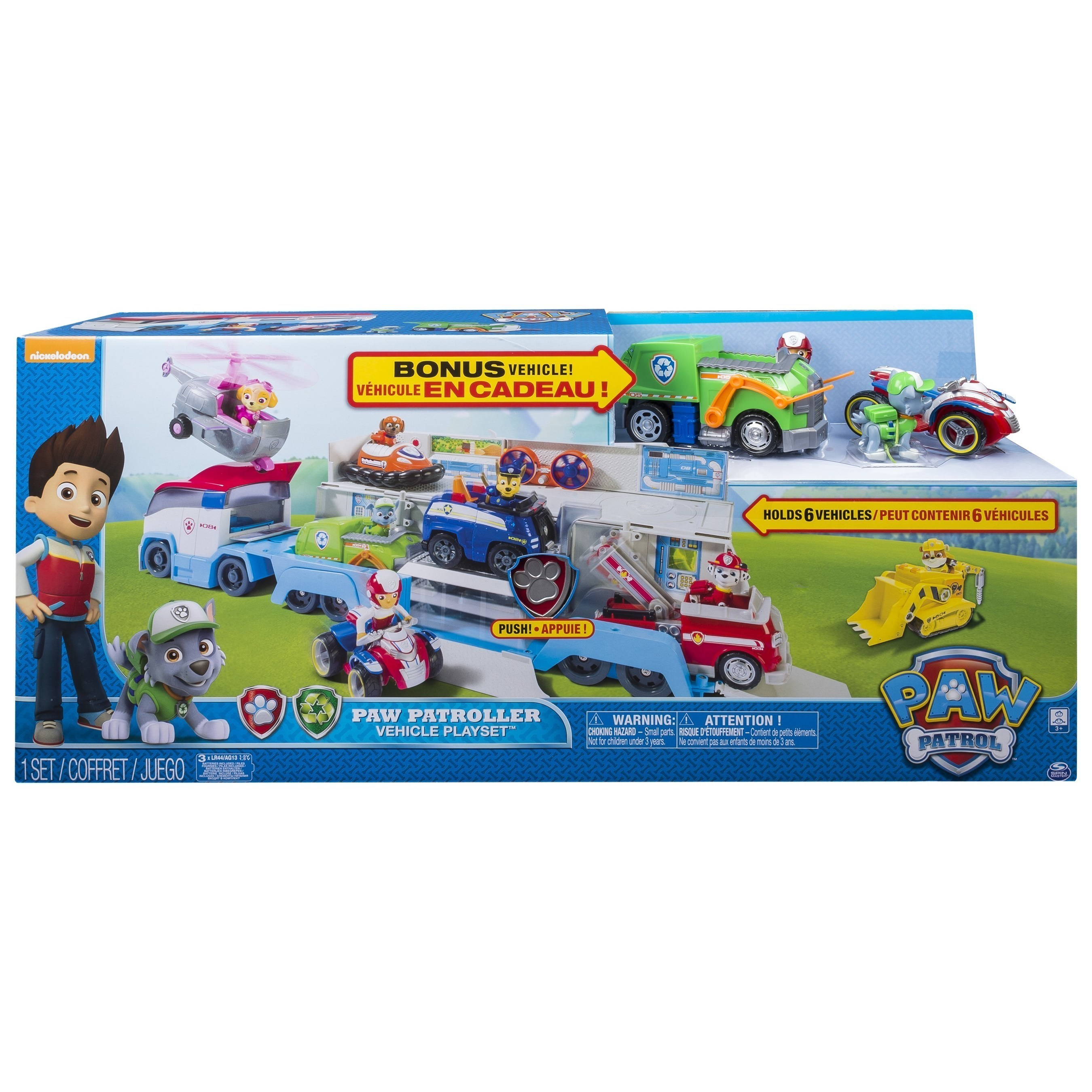 PAW Patroller Vehicle Playset with BONUS Vehicle, available at BJ's Clubs and BJs.com.