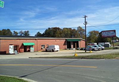 Former Tobacco Warehouse Repurposed as U-Haul of Jonesboro in Sanford, North Carolina.