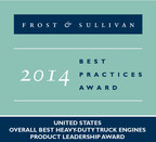 Cummins Inc. received 2014 United States Overall Best Heavy-duty Truck Engines Product Leadership Award (PRNewsFoto/Frost & Sullivan)