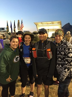 Wounded Warrior Project Alumni before the Bataan Memorial Death March begins.