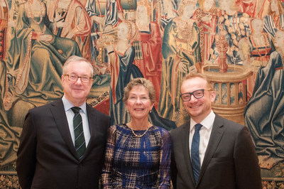 (Left to Right): Bank of America Vice-Chairman Terry Laughlin, The Frick Pittsburgh Board of Trustees Chair Cary Reed, and Frick Director Robin Nicholson. The Frick Pittsburgh will receive a Bank of America 2016 Art Conservation Project grant for the conservation of three early-16th-century European tapestries in its collection.