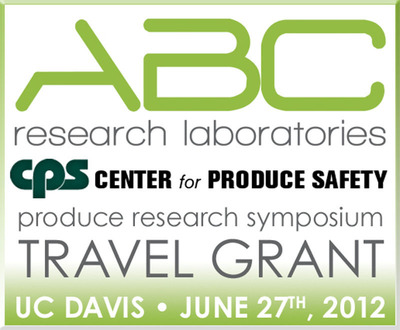 ABC Research Laboratories partnered with the Center for Produce Safety to develop a travel grant to honor those pioneering research in the field of produce safety. Recipients were selected based on the quality and applicability of their research.  (PRNewsFoto/ABC Research Laboratories)