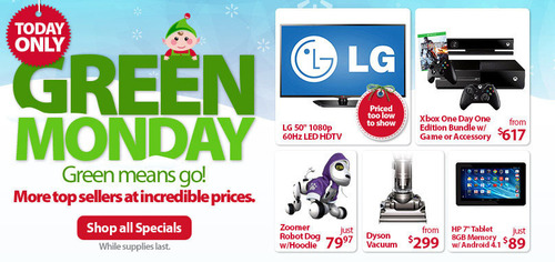 Walmart.com Brings Back Top-Selling Black Friday Weekend Favorites for Green Monday. (PRNewsFoto/Wal-Mart ...