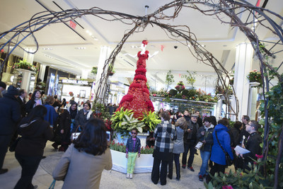 Crowds gather at the 40th Annual Macy's Flower Show 2014.Photo credit: John Minchillo/AP Images for Macy's