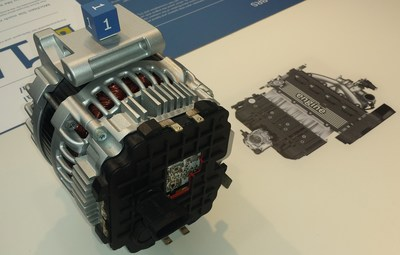 Bosch boost recuperation system (BRS), example of reversible rotating machine for mild hybrid 48V. Source: IDTechEx Photograph. (PRNewsFoto/IDTechEx Research)