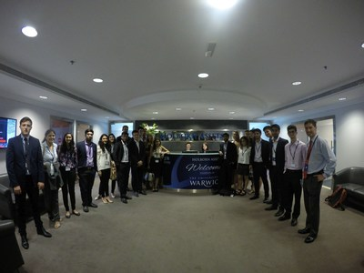 Holborn Assets Hosts Potential Future IFAs from Warwick University at Dubai Headquarters (PRNewsFoto/Holborn Assets)