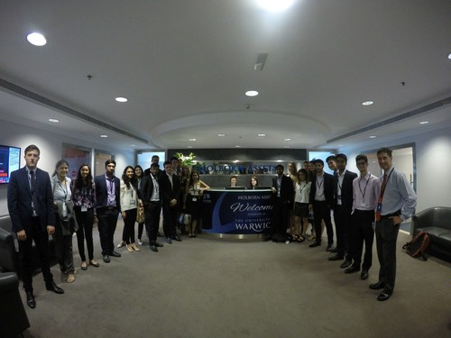 Holborn Assets Hosts Potential Future IFAs from Warwick University at Dubai Headquarters (PRNewsFoto/Holborn ...