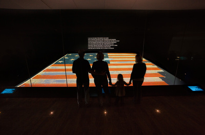 The Star Spangled Banner, the flag that inspired the national anthem, on display at the Smithsonian's National Museum of American History. (PRNewsFoto/Smithsonian's National Museum of American History) (PRNewsFoto/SMITHSONIAN'S NATIONAL MUSEUM...)