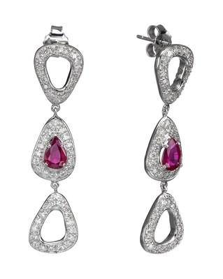 Cyber Monday Diamond Deals from Israel offer specially picked diamonds and diamond jewelry at great prices. These unique earrings by Aradama, with diamonds and rubies in 18 k gold, sell on the site for $7,840 instead of $9,800.