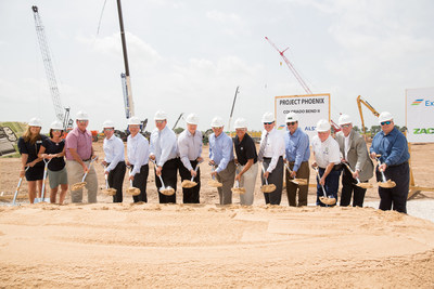 Executives from Exelon Generation, Alstom, General Electric and Zachry and community leaders from Wharton, Texas officially break ground on a new 1,000 megawatt natural gas power generating unit at Exelon's Colorado Bend Generating Station in Wharton.