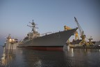 The latest evolution of the Aegis Combat System - Baseline 9.C1 - was certified for the U.S. Destroyer fleet, which will one day include the USS John Finn (pictured here), now under construction. U.S. Navy photo.
