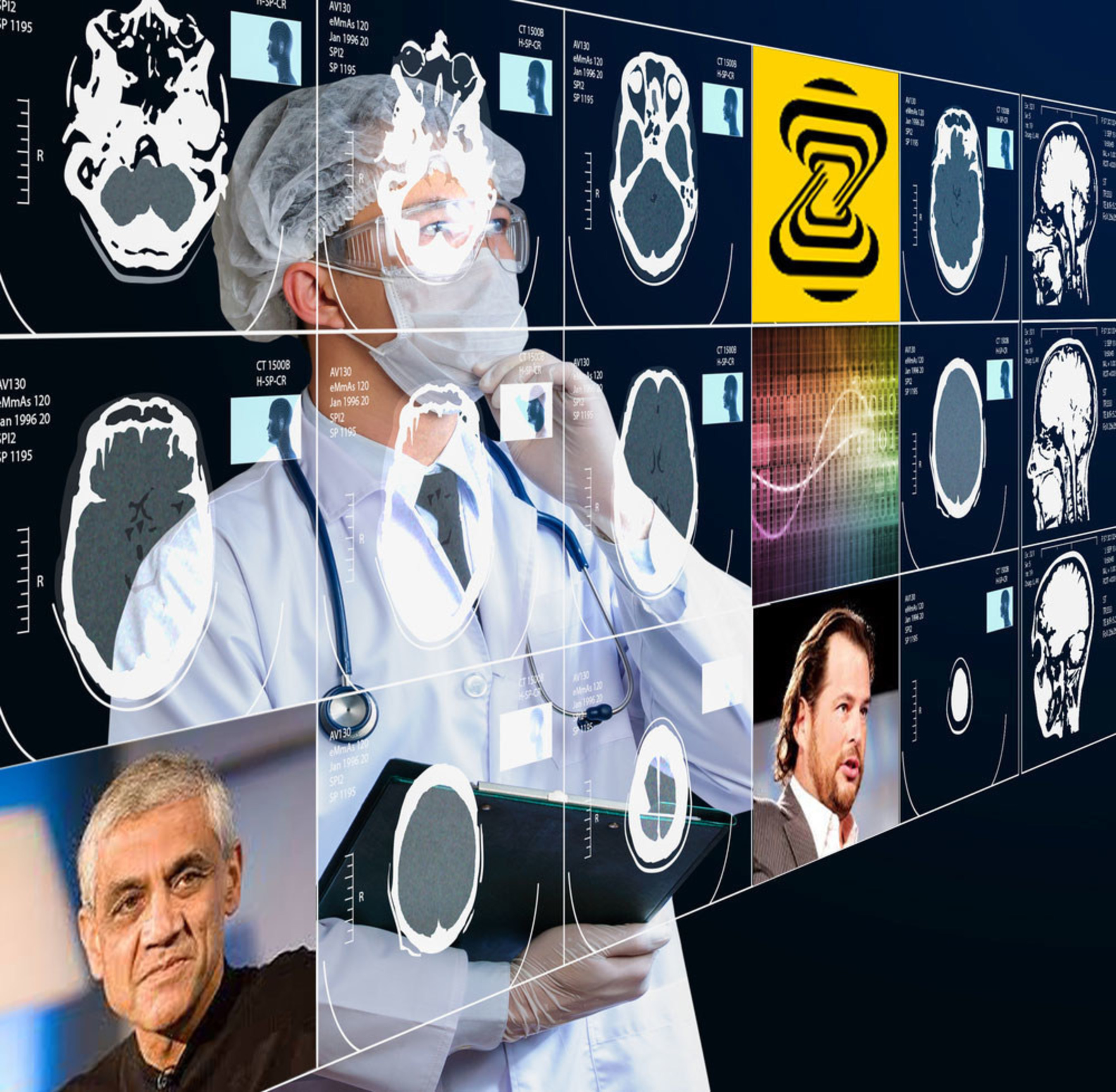 Zebra Medical Vision announce the launch of its medical imaging insights platform and funding from Khosla venture and Mark Benioff. Image credit : shutterstock, Wikipedia