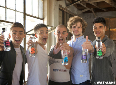 WAT-AAH! ANNOUNCES MUSIC VIDEO INTEGRATION IN POP SENSATIONS THE WANTED'S NEW VIDEO, 'SHE WALKS LIKE RIHANNA'  (PRNewsFoto/WAT-AAH!)