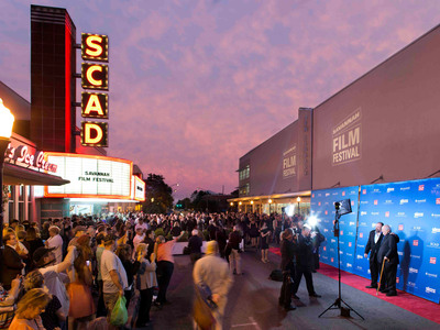 Outside Trustees Theater at the 2012 Savannah Film Festival, presented by SCAD.