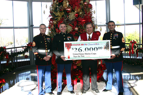 United States Marine Corps Toys For Tots Receives $26,000 From Stater Bros. Charities