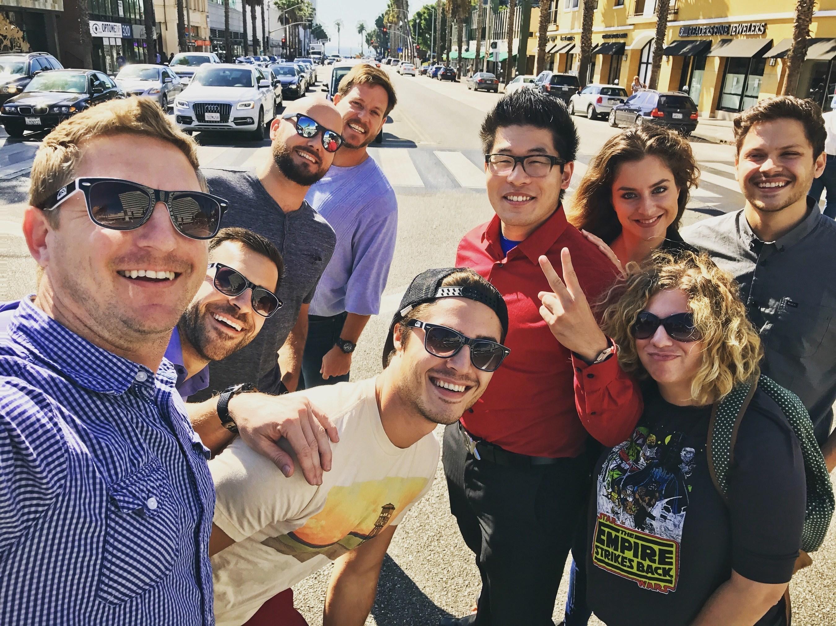 The TSN team snaps a selfie near HQ in downtown Santa Monica.