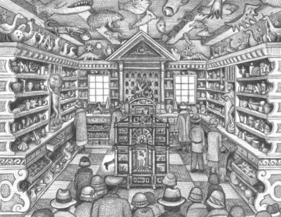 """Interior art from """"Wonderstruck,"""" a new novel in words and pictures by Brian Selznick, bestselling author/illustrator of the award-winning novel and upcoming movie """"The Invention of Hugo Cabret."""" Wonderstruck will be published by Scholastic simultaneously in the United States, United Kingdom, Australia, New Zealand, and Canada on September 13, 2011.  (PRNewsFoto/Scholastic Corporation)"""
