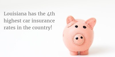 Louisiana has the 4th highest car insurance rates in the country! Our average premium is $1,842 - over $500 more expensive than the national average of $1,325.