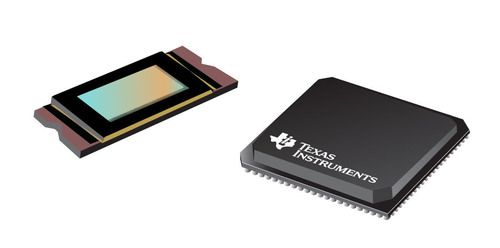 The DLP4500NIR, the first DLP(R) device optimized for use with near infrared (NIR) light (LEFT). The DLPC350 controller (RIGHT). (PRNewsFoto/Texas Instruments)