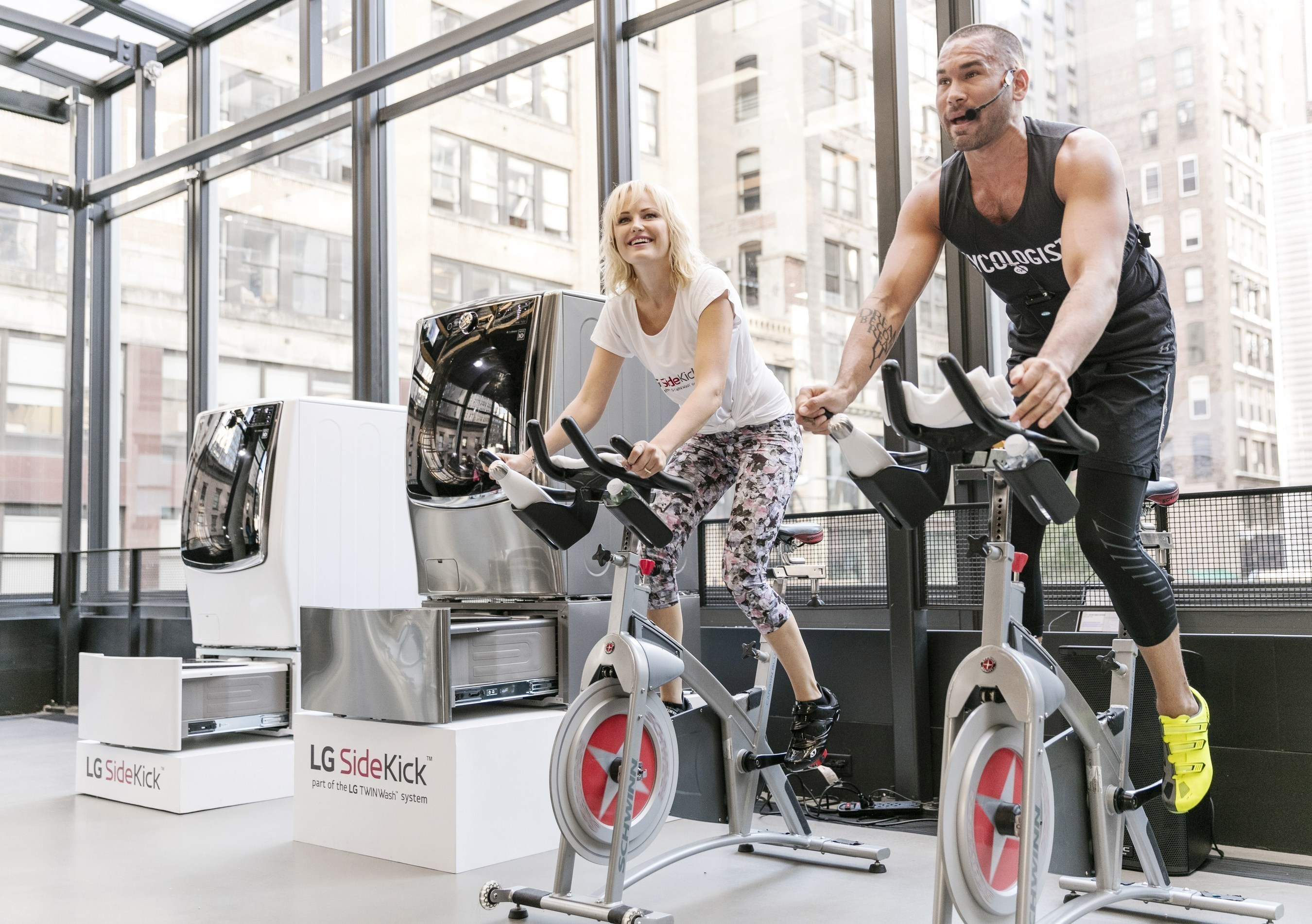 LG Teams Up With 'Billions' Star Malin Akerman To Sweat It Out In Style At LG SideKick Fitness Event