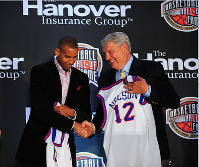 Reggie Miller and Don Nelson were among those inducted into the Naismith Memorial Basketball Hall of Fame in 2012. The Hanover Insurance Group will sponsor the award ceremony again this year.  (PRNewsFoto/The Hanover Insurance Group, Inc.)