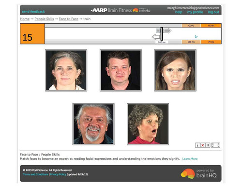 Figure 3: The People Skills exercise helps users with facial recognition and remembering names.  (PRNewsFoto/Posit Science)