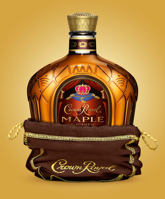 Crown Royal releases new Maple Finished variant, combining the legendary taste of Crown Royal whisky with a touch of natural maple flavor.  (PRNewsFoto/Diageo)