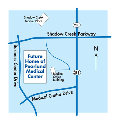 Future Home of Pearland Medical Center, 10970 Shadow Creek Parkway, Pearland, TX  77584.  (PRNewsFoto/HCA Gulf Coast Division)