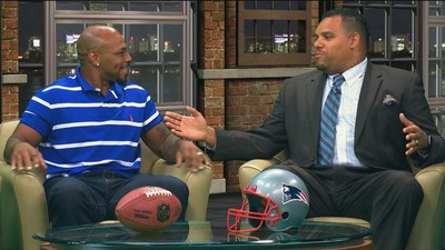 New England Patriots Hall of Fame Inductee Kevin Faulk in an exclusive sit down interview with former Patriot Jermaine Wiggins Sunday evening at NESN.