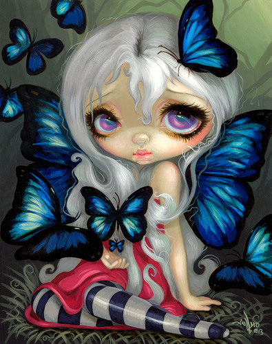 """Blue Morpho,"" created exclusively for Dynamics ePlate cardholders by Jasmine Becket-Griffith.  ..."