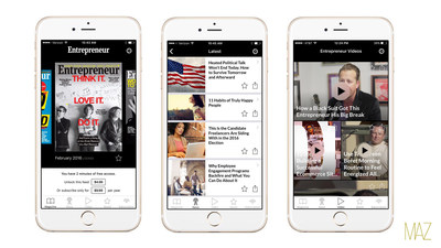The new update merges Entrepreneur magazine's print content with Entrepreneur.com content feeds curating the latest and most popular articles, infographics and videos across all topic areas.