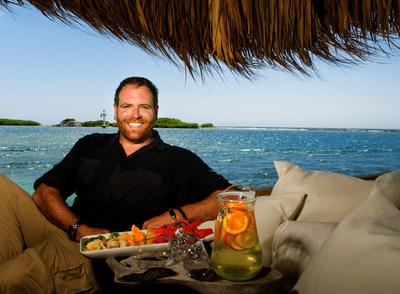Host Josh Gates enjoys Aruba's local island flavors