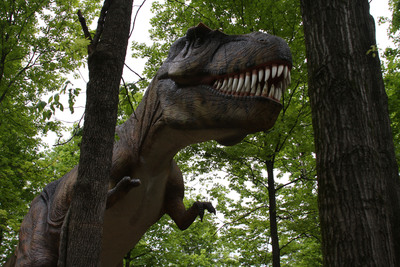 Dinosaurs Alive! at Kings Island features more than 60 life-sized dinosaurs.