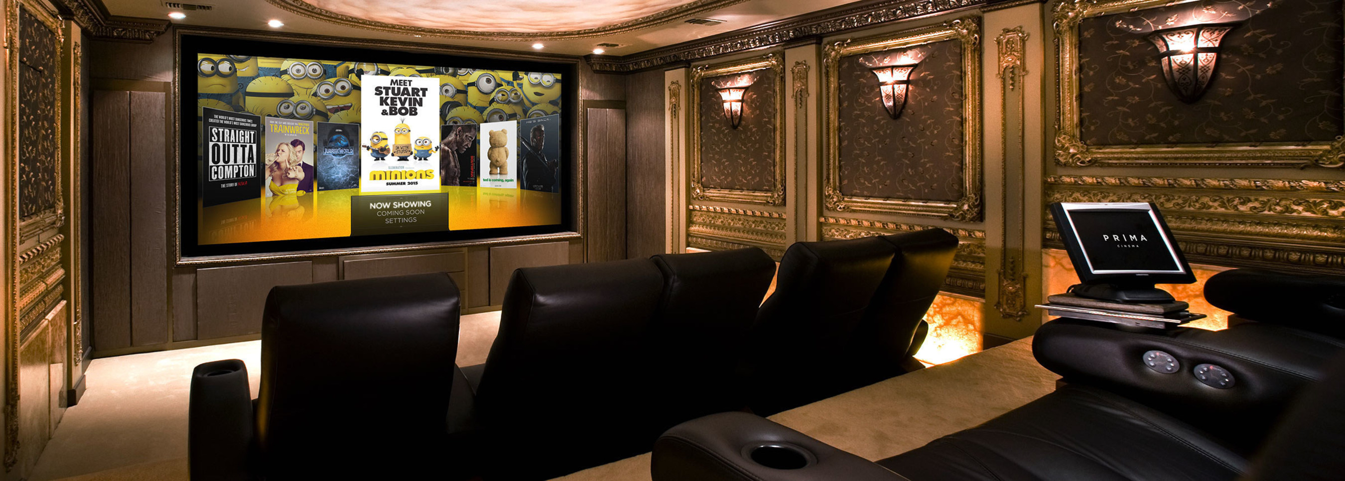 PRIMA Cinema System In Client Home Theater